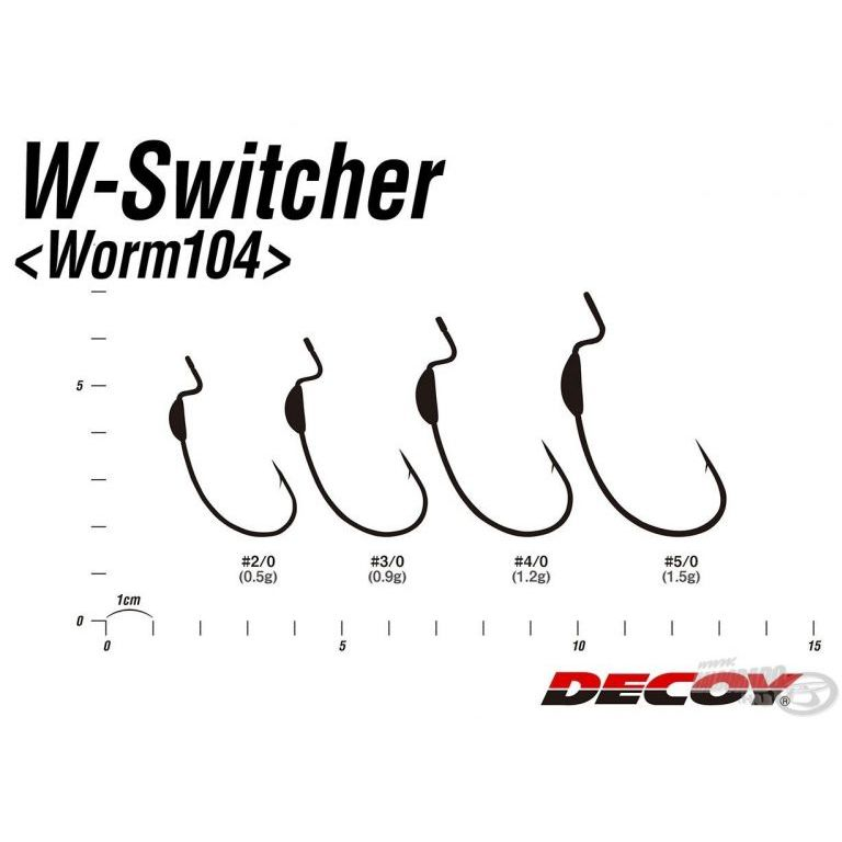 DECOY Worm 104 W Switcher 5/0 - 1,5 g