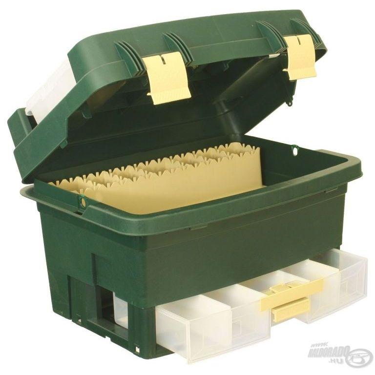 FISHING BOX Caddy pergetőláda