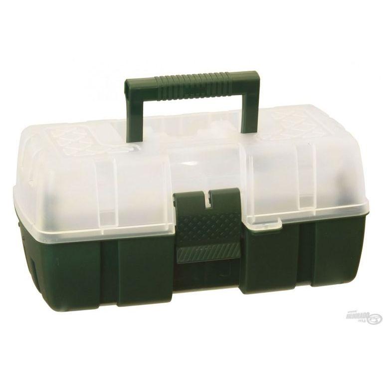 FISHING BOX Kicsi szerelékes láda átlátszó tetővel