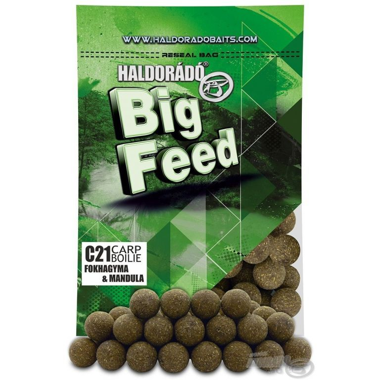 HALDORÁDÓ Big Feed - C21 Boilie - Fokhagyma & Mandula 800 g