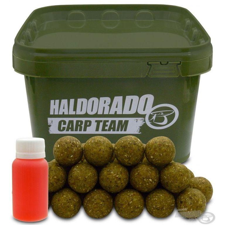 HALDORÁDÓ Big Feed - C21 Boilie - Fokhagyma & Mandula vödrös
