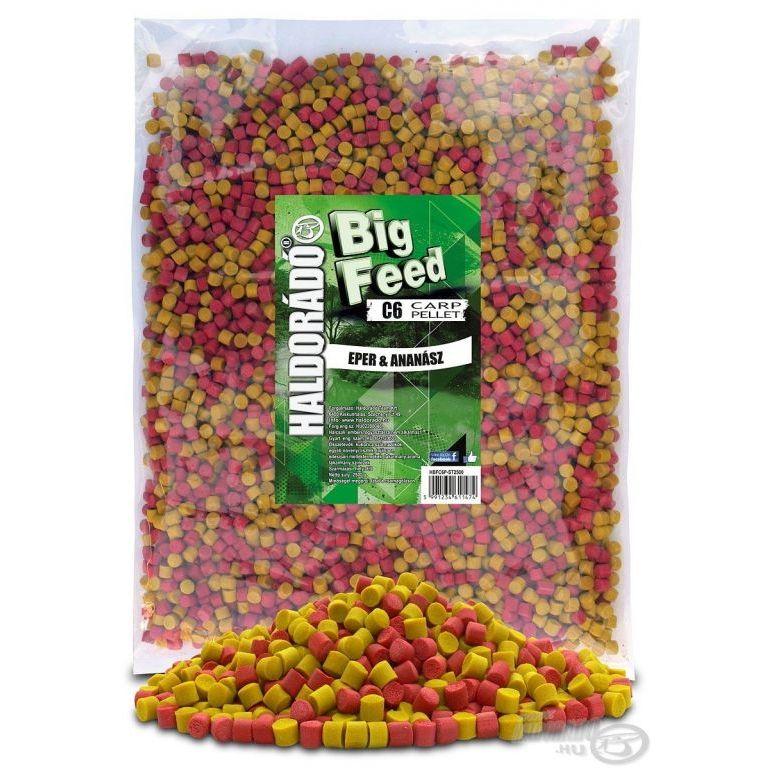 HALDORÁDÓ Big Feed - C6 Pellet - Eper & Ananász 2,5 kg