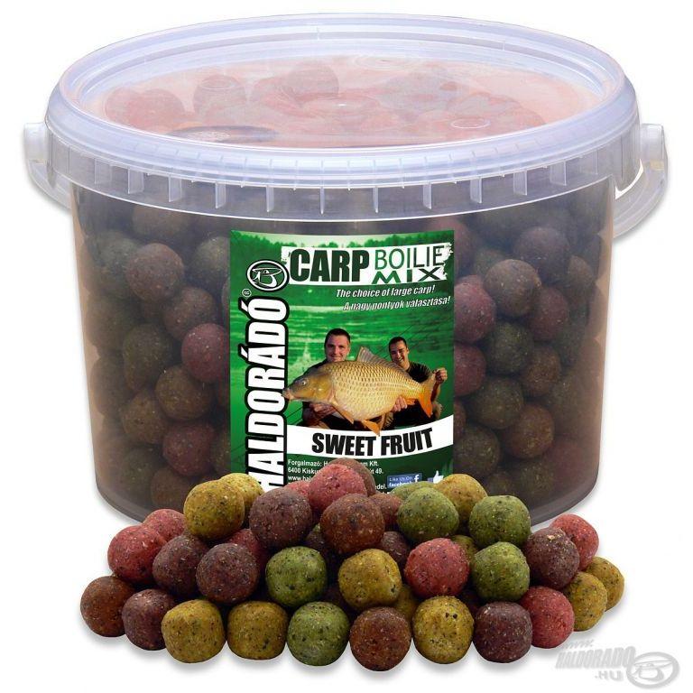 HALDORÁDÓ Carp Boilie Mix - Édes Gyümölcs 2,5 kg vödrös