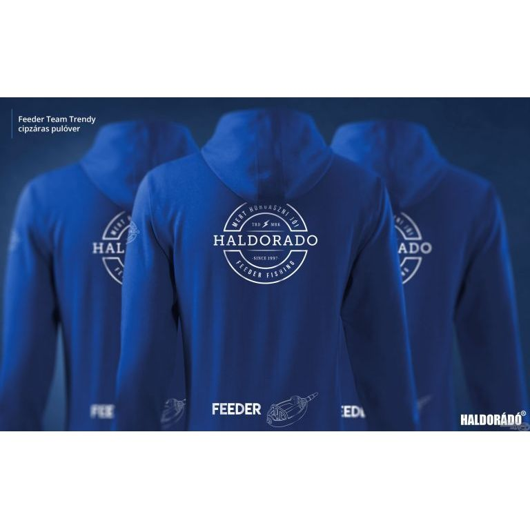 HALDORÁDÓ Feeder Team Trendy cipzáras pulóver L