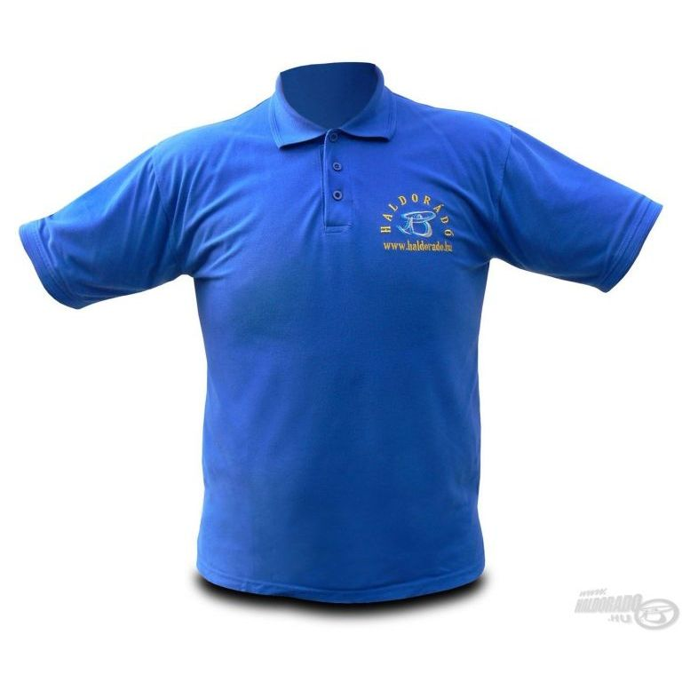 HALDORÁDÓ Királykék hímzett galléros póló XL