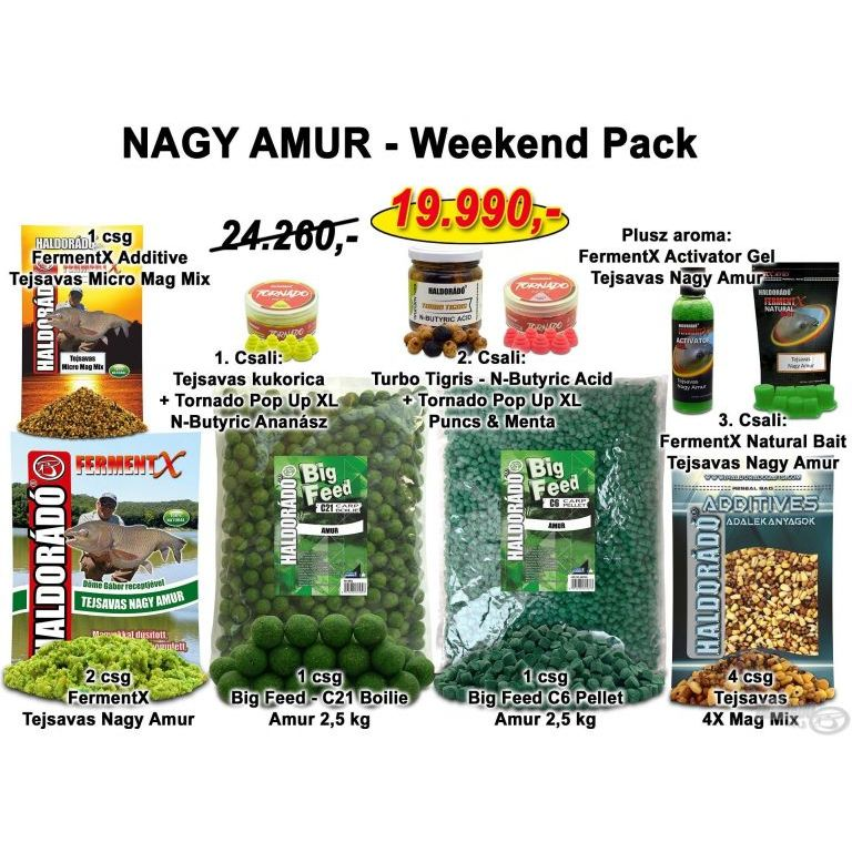 HALDORÁDÓ Nyári recept 10 - NAGY AMUR - Weekend Pack