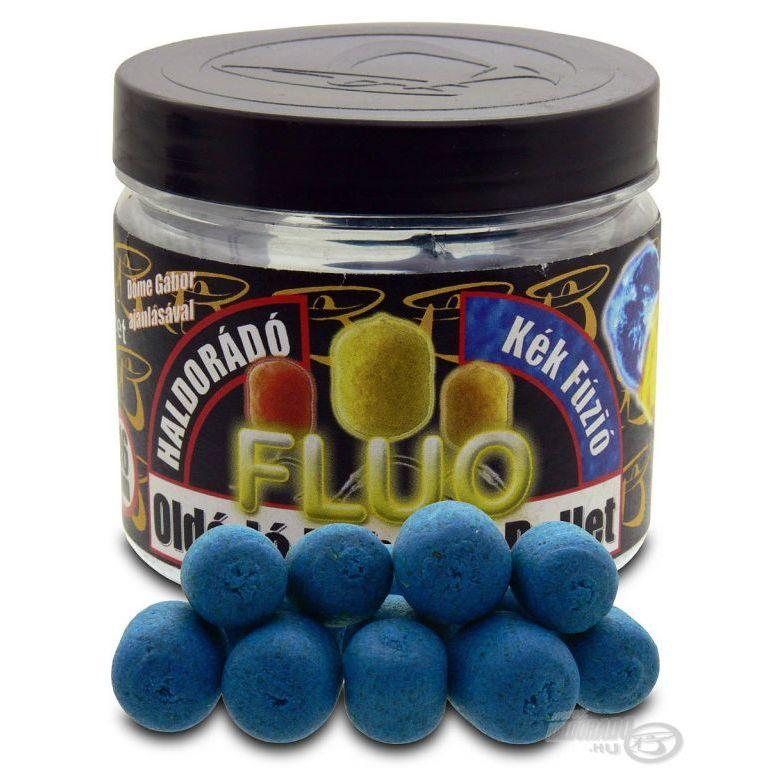 HALDORÁDÓ Oldódó Fluo Lebegő Pellet - Kék Fúzió