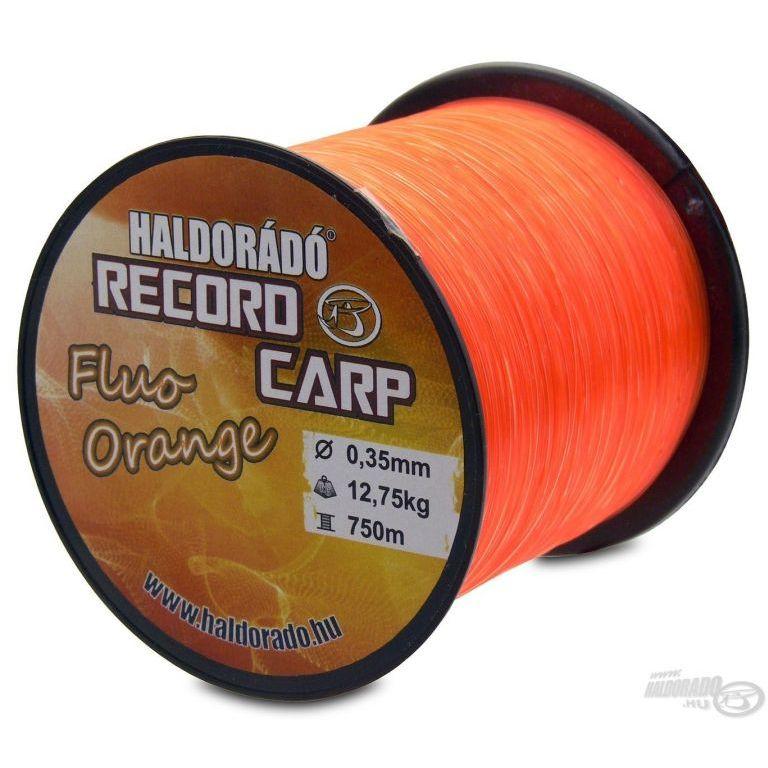 HALDORÁDÓ Record Carp Fluo Orange 0,25 mm / 900 m