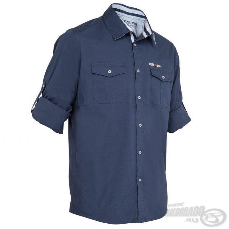 HALDORÁDÓ TRIBORD UPF 40+ UV szűrős ing sötétkék L/XL