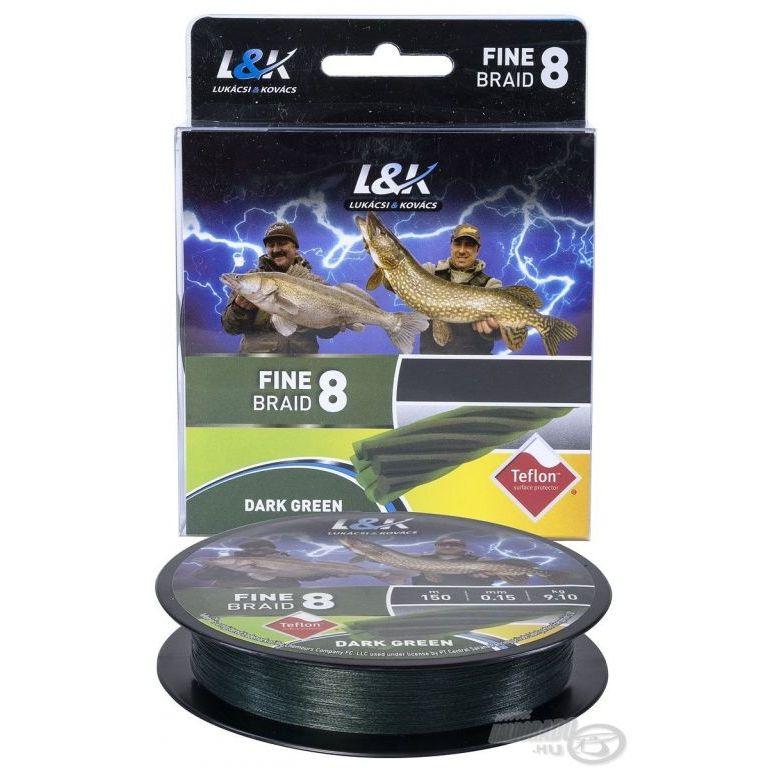 L&K Fine Braid 8 Dark Green - 0,10 mm