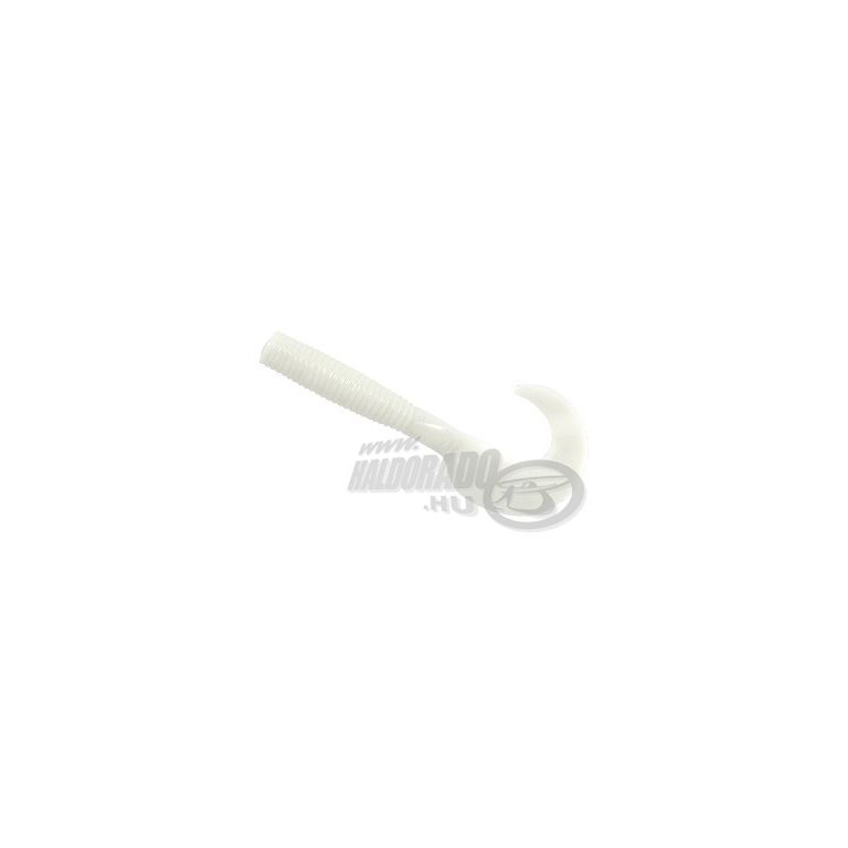 L&K Grub Hunter twister 5,5 cm - 004 fehér