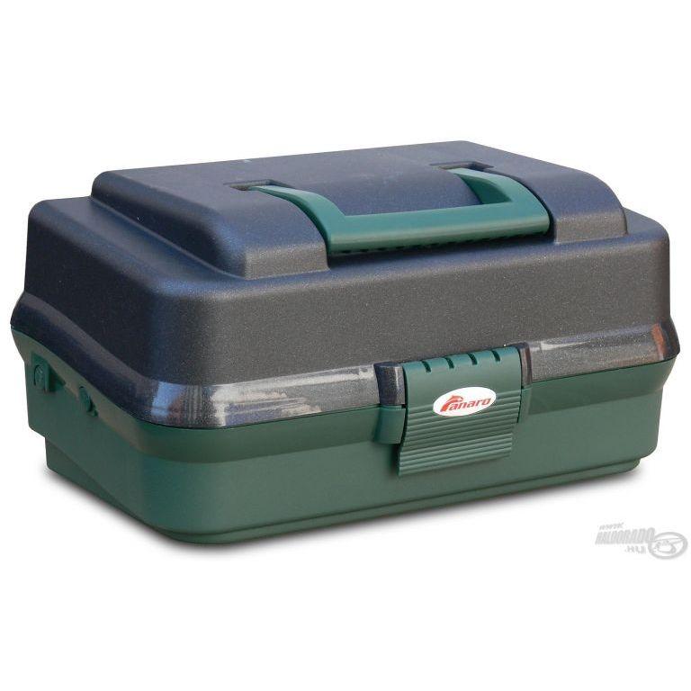 PANARO Szerelékes doboz 2 tálcás - zöld