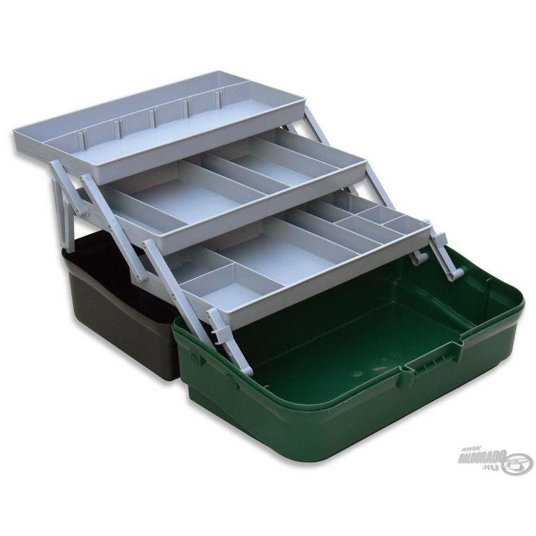 PANARO Szerelékes doboz 3 tálcás - zöld