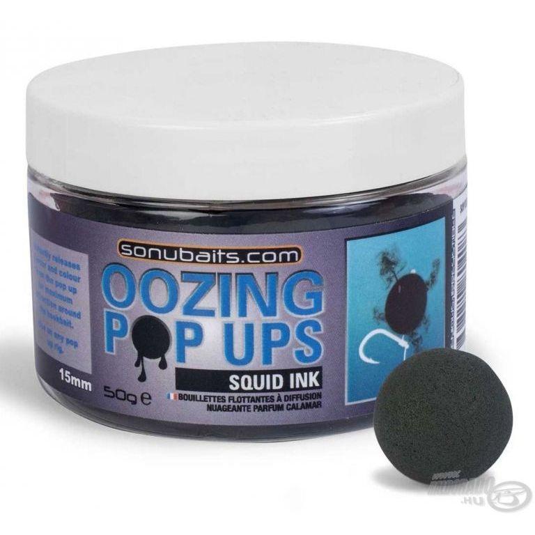 SONUBAITS Oozing Pop Ups 15 mm - Squid Ink