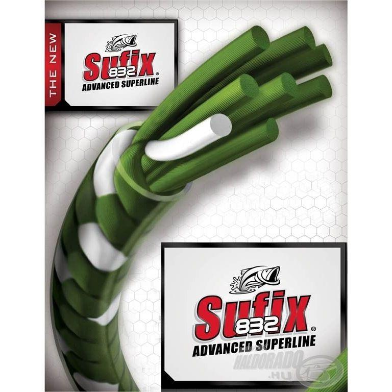 SUFIX 832 Braided zöld 120 m 0,13 mm